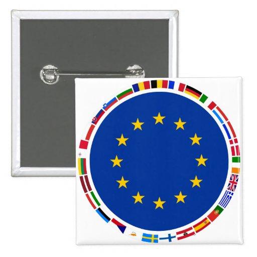 European Union Flags Pin
