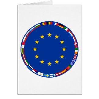 European Union Flags Card