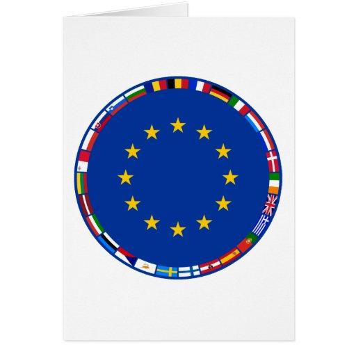 European Union Flags Greeting Card