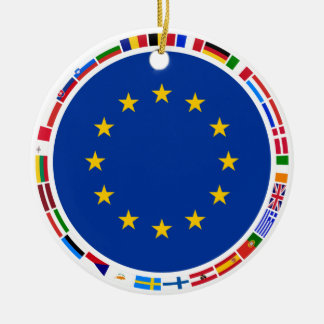 European Union Flags Christmas Ornament