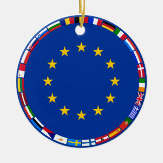 European Union Flags Christmas Ornament