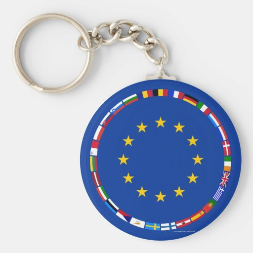 European Union Flags Keychains