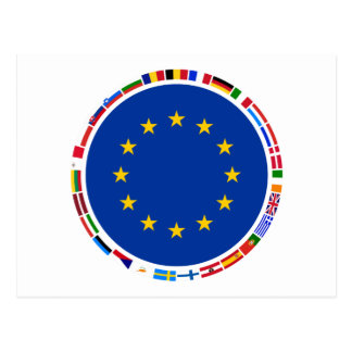 European Union Flags Postcard