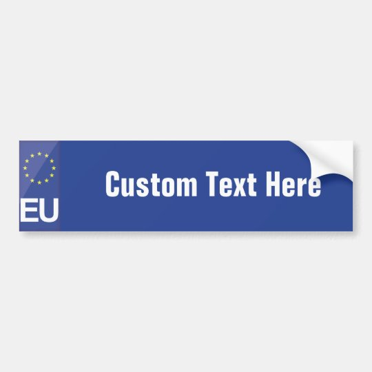 European Union numberplate Bumper Sticker