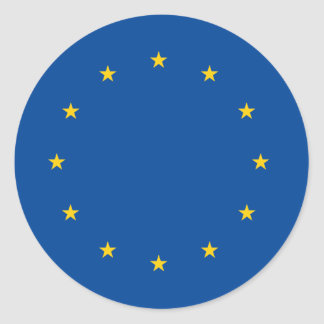 European Union Round Sticker