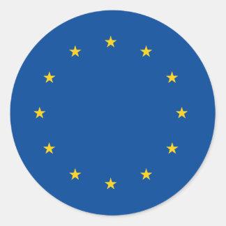 European Union Round Sticker