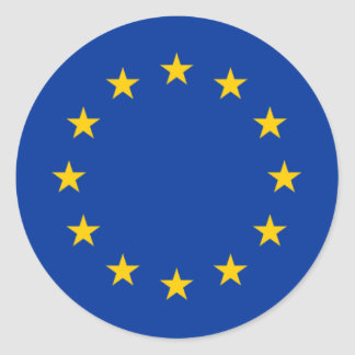 European Union Stars Classic Round Sticker