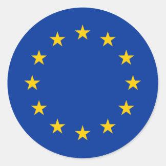 European Union Stars Round Sticker