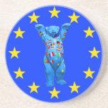 European Union Teddy Bear(cent) Beverage Coaster