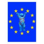 European Union Teddy Bear(cent) Business Cards