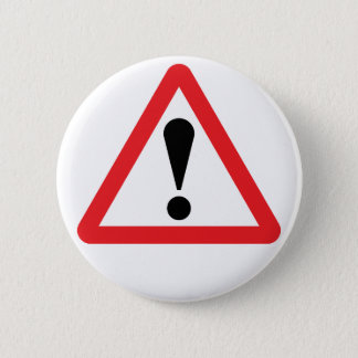 European Warning Road Sign Button