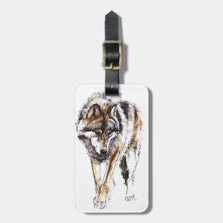 European Wolf Luggage Tag
