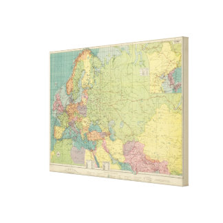 Europe's overland, sea communications canvas print