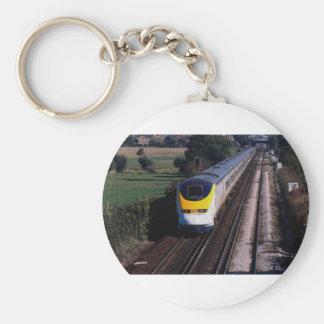 Eurostar passenger train basic round button key ring