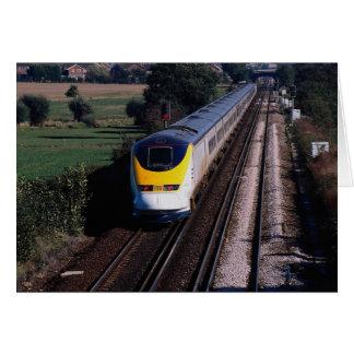 Eurostar passenger train greeting card