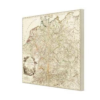 Eurupoe Postal Roads Canvas Print