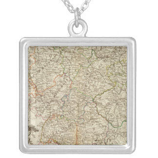 Eurupoe Postal Roads Silver Plated Necklace
