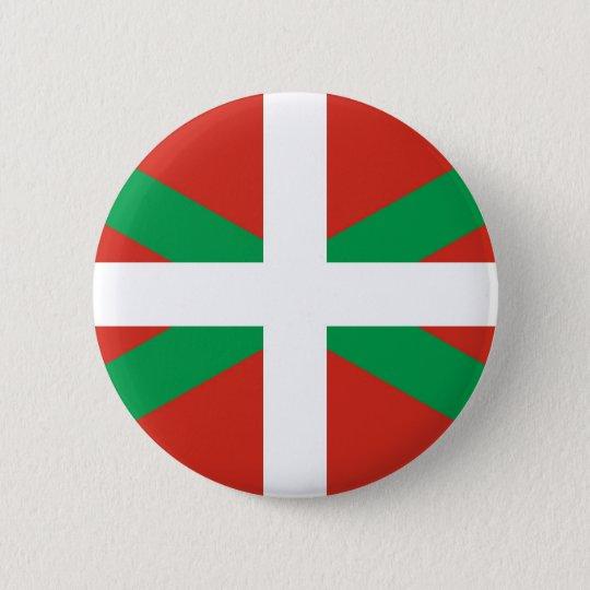 Euskadi Flag - Basque Country - Ikurri 6 Cm Round Badge