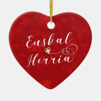 Euskal Herria Heart, Christmas Tree Ornament