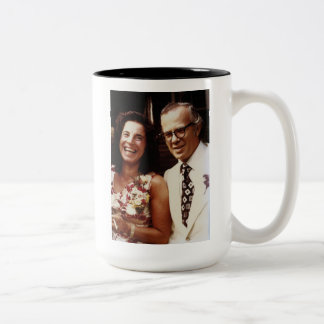 Eva and John Pierrakos coffee mug