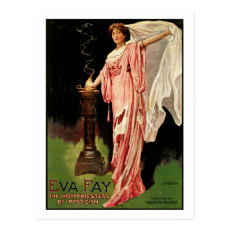Eva Fay ~ The High Priestess of Mysticism Postcard