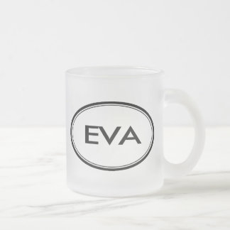 Eva Frosted Glass Coffee Mug