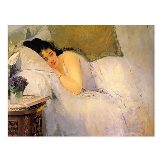 Eva Gonzales- Woman Awakening Postcard