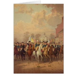 Evacuation day and Washingtons New York Entry 1783 Greeting Card