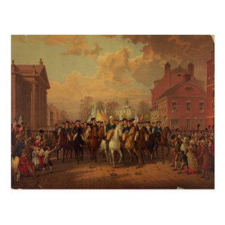 Evacuation Day Washington's Entry New York City Postcard