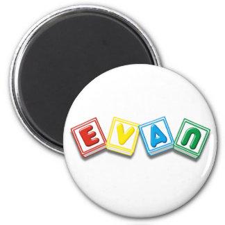 Evan 6 Cm Round Magnet