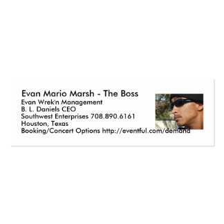 Evan Mario Marsh - The Boss Business Card Templates