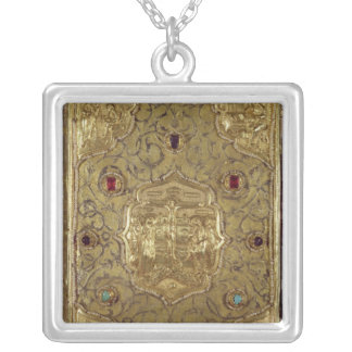 Evangelical reliquary, Moscow School Square Pendant Necklace