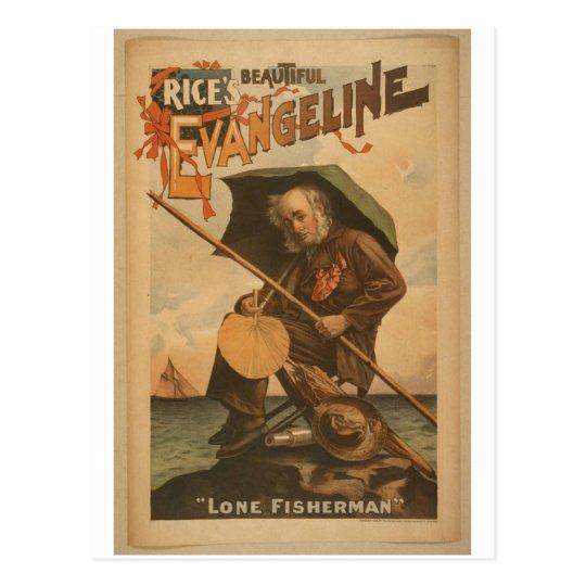 Evangeline, 'Lone Fisherman' Vintage Theatre Postcard