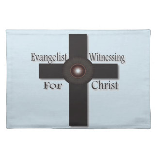 Evangelist Witnessing For Christ Placemats