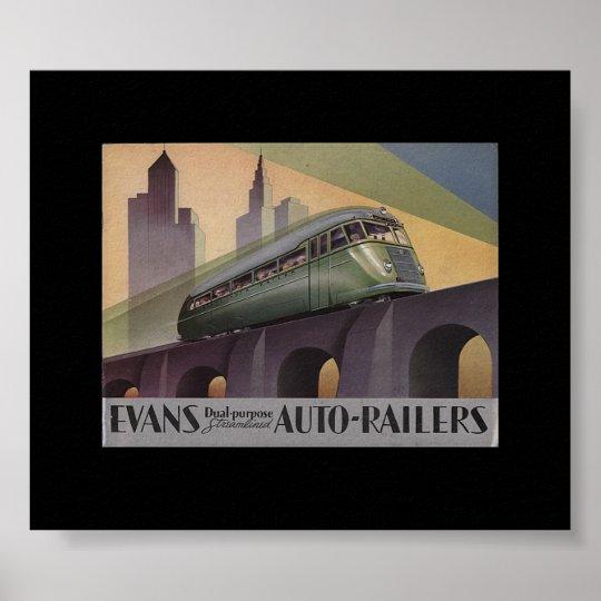 Evans Auto Railers 1930's Poster
