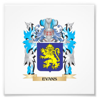 Evans Coat of Arms - Family Crest Photograph
