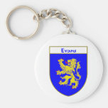 Evans Coat of Arms/Family Crest (Wales) Basic Round Button Key Ring