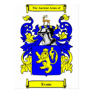 Evans Coat of Arms Postcard