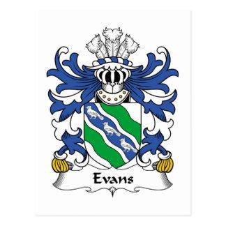 Evans Family Crest Postcard