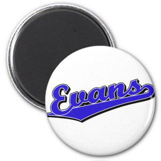 Evans in Blue 6 Cm Round Magnet