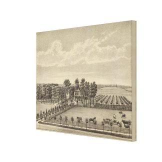 Evans Residence, Topeka, Kansas Canvas Print