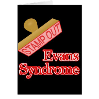 Evans Syndrome Stationery Note Card