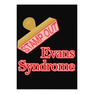 Evans Syndrome 5x7 Paper Invitation Card