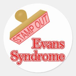 Evans Syndrome Round Sticker