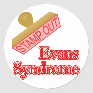 Evans Syndrome Round Stickers