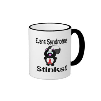 Evans Syndrome Stinks Skunk Awareness Design Coffee Mugs