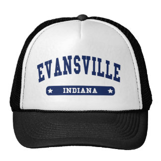 Evansville Indiana College Style tee shirts Trucker Hats