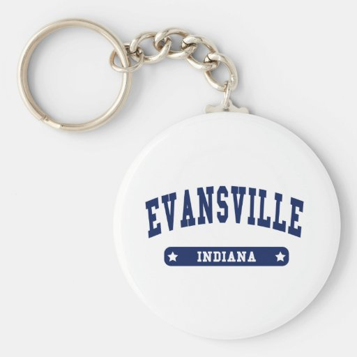 Evansville Indiana College Style tee shirts Key Chain
