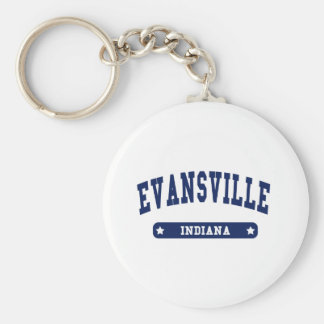Evansville Indiana College Style tee shirts Basic Round Button Key Ring