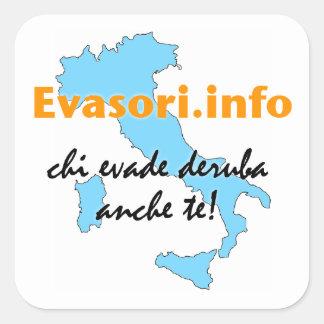 Evasori.info: adesivi grandi square sticker